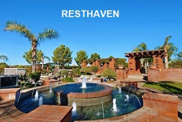 For Sale Resthaven Park Cemetery Two Side by Side Plots Premium Gated Site