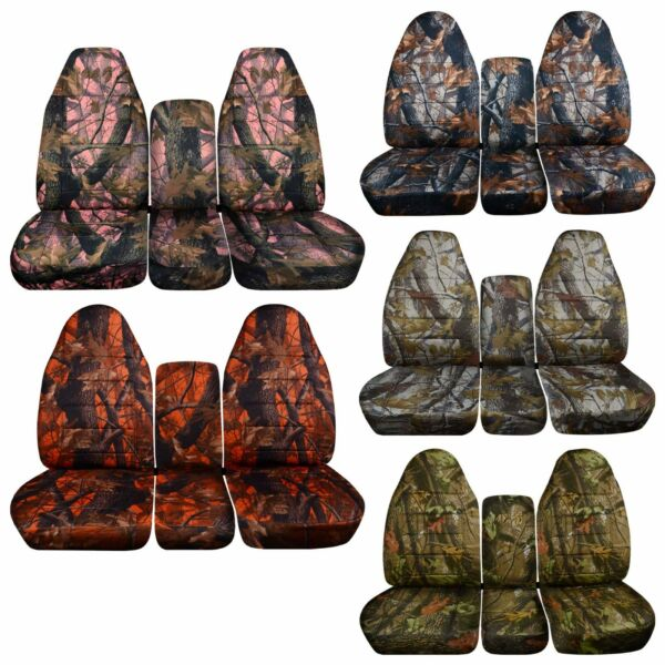 Camo car seat cover fits 94 02 Dodge Ram front 40 20 20 seat w Integrated SB No $124.99