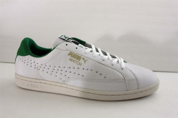 Puma Men's Match White Green Mesh Leather Athletic Sneaker Shoe Size 13 M NIB