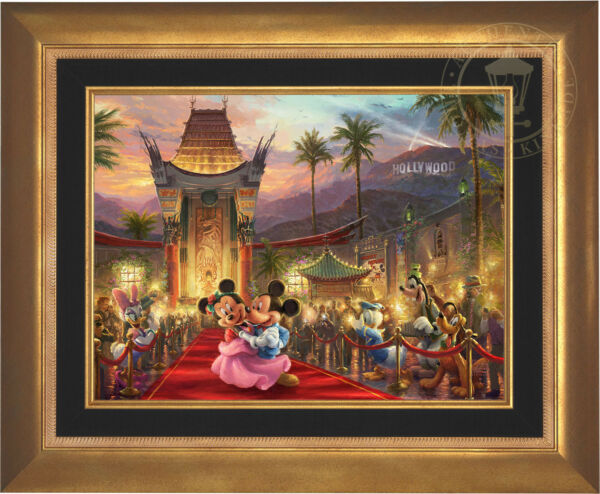 Thomas Kinkade Studios Mickey and Minnie in Hollywood 18x24 LE EE Canvas Framed