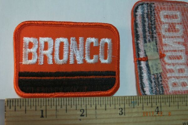 Vintage Ford Bronco Embroidered Iron on Patch 3x2quot;
