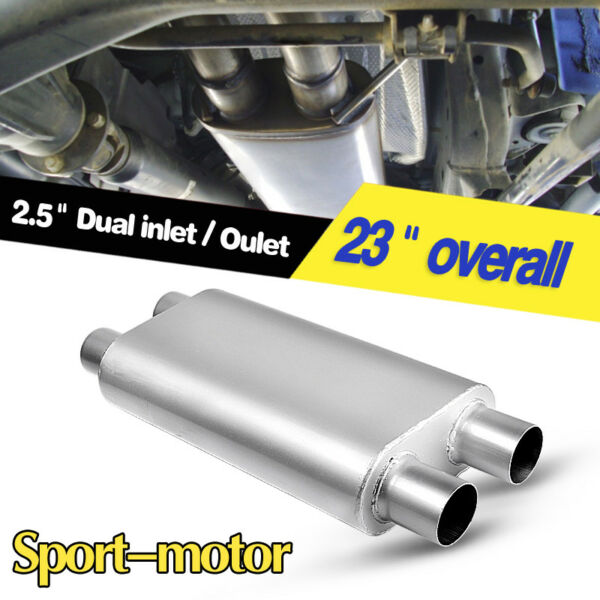 3 Chamber Oval Muffler Exhaust Race 2.5