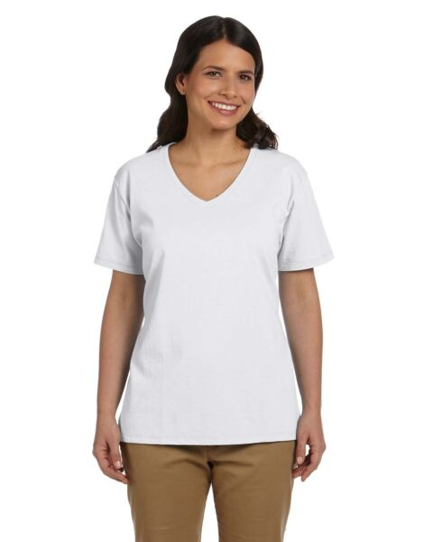 Hanes Women Neck Label Relaxed Fit Comfortsoft V Neck T Shirt