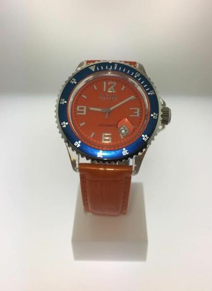 Ritmo Mundo Small Hercules Orange Automatic Watch 20187