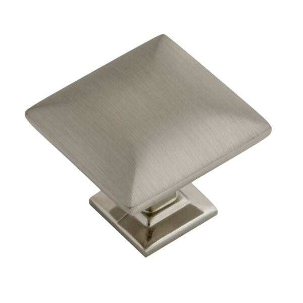 Modern Pyramid Square Kitchen Cabinet Hardware Knob 1 1/4