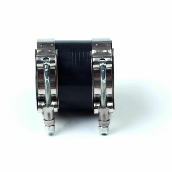 Black 4quot; to 4.0quot; Straight Silicone Coupler Hose Turbo Intake 102mm PipeClamp