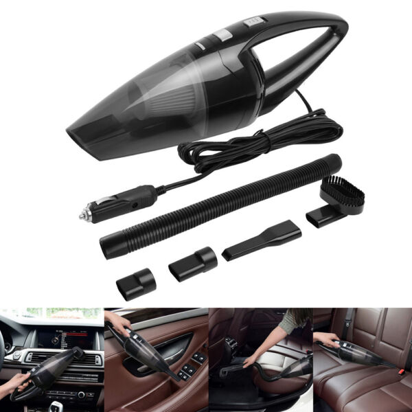 Portable 12V 120W Home Car Vehicle Handheld Auto Vacuum Dirt Cleaner Wet