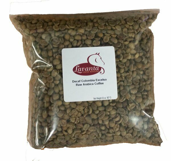 LAVANTA COFFEE GREEN DECAF COLOMBIA EXCELSO TWO POUND PACKAGE