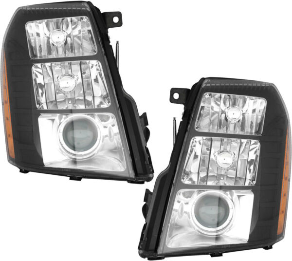 Performance HID Headlights (w/o Ballast) Pair Set for 07-14 Cadillac Escalade
