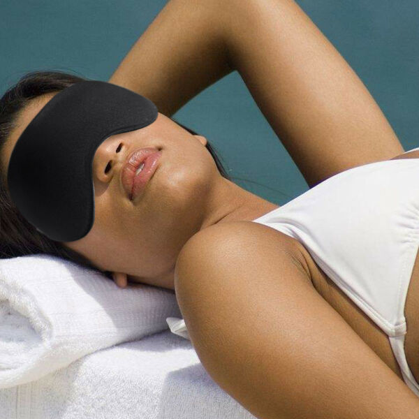 5X Travel 3D Eye Mask Sleep Soft Padded Shade Cover Relax Sleeping Aid Blindfold