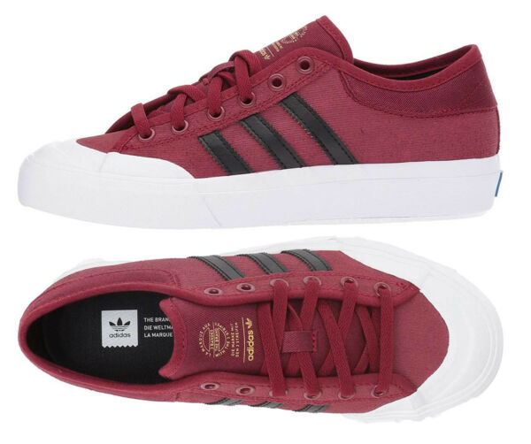 Adidas Originals Matchcourt Shoes Burgundy Canvas Sneakers ADIDAS BY3984 NEW