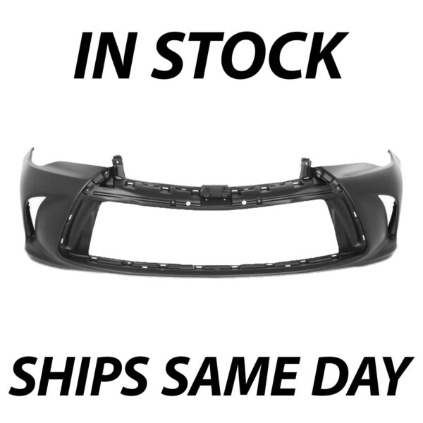 NEW Primered Front Bumper Cover Fascia for 2015 2016 2017 Toyota Camry 15 16 17 $73.99