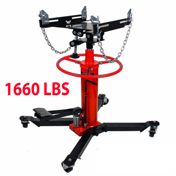 1660lbs transmission jack 2 Stage Hydraulic w 360° for engine lift
