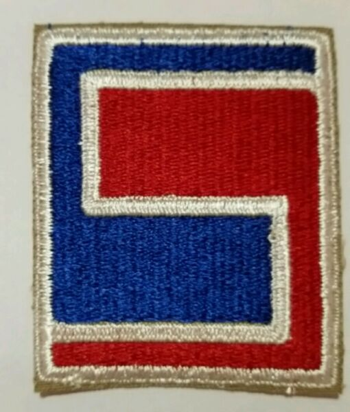 Patch US 69th infantry div. Le Havre Belgique Allemagne WWII 100 % ORIGINAL