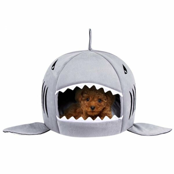 Unique Shark Mouth Pet Dog Cat House Removableamp;Washable Dog Bedup to 10lb $15.99