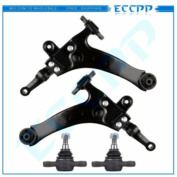 ECCPP 4pc Set: Lower Control Arms and Lower Ball Joints for Hyundai Sonata