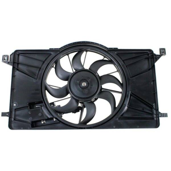 For Ford Focus 12-18 Radiator Condenser Cooling Fan Motor W module