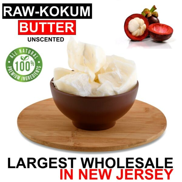 Kokum Butter Premium 100% Pure Raw Organic Cold Pressed Natural 1 oz to 25 lbs