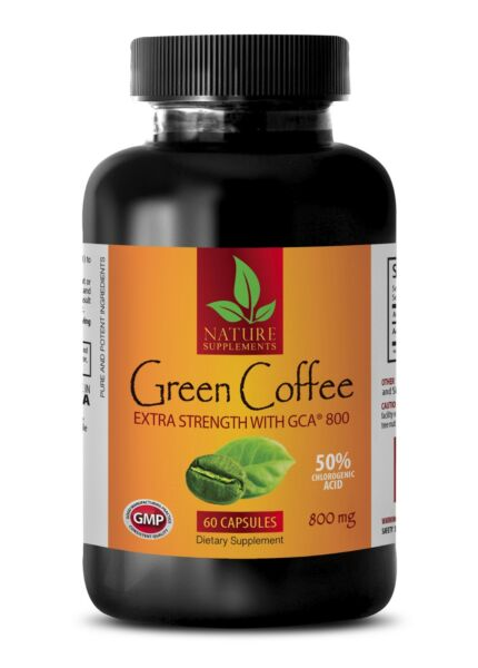 Green Coffee Beans Pills - Green Coffee Extract GCA 800 - Fat Burner - 60 Pills