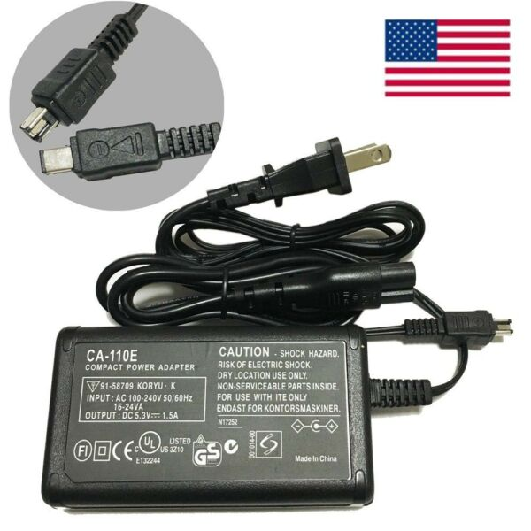 US AC Power Supply Adapter Charger Cord For Canon VIXIA HF R600 Camcorder