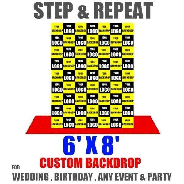 Premium Printed Banner 6'x8' FT  Complete with Stand (Customised STEP