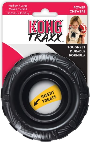 KONG Extreme TRAXX Rubber Tire Chew Treat Dog Toy Medium Large KT11