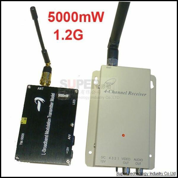 5W Made in Taiwan 1.2G wireless transceiver FPV transmitter drone transmitter