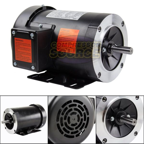1 HP Electric Motor 3 Phase 56C Frame 1800 RPM TEFC 208 230 460 Volt New $208.95