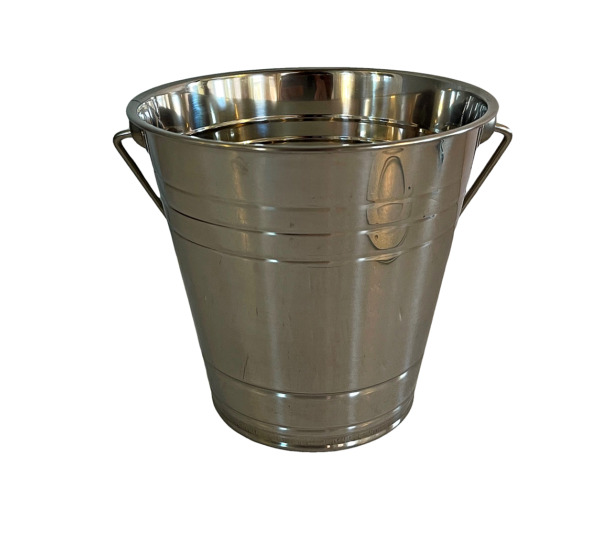 Metal Bucket for Grease Grill  Smoker - Metal Pail With Handle 2 Quart P-1043