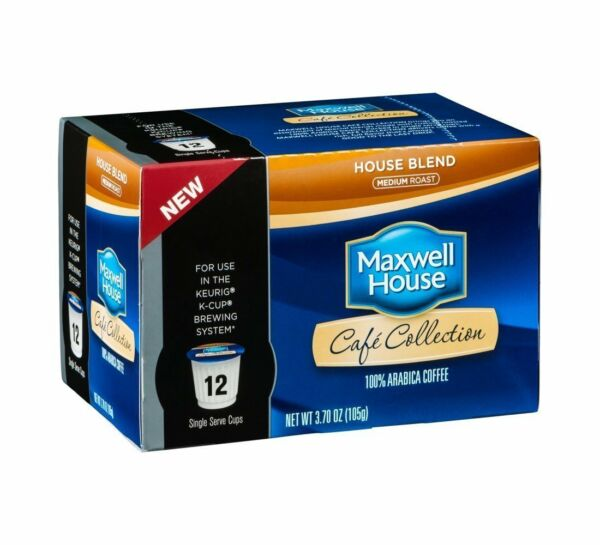 MAXWELL HOUSE CAFE COLLECTIONS HOUSE BLEND KCUPS 12CT 3.7OZ