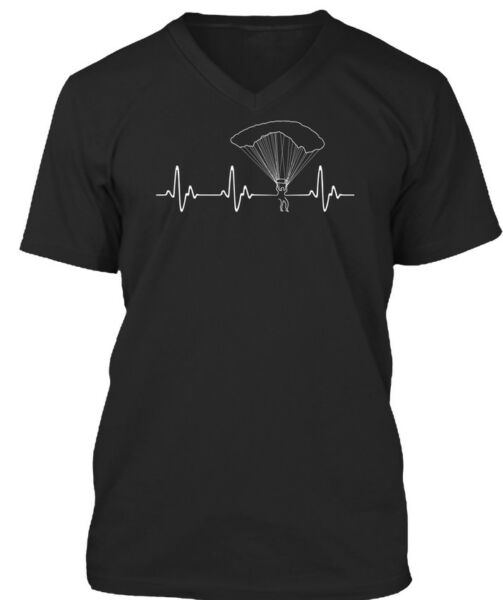 Skydiving Heartbeat Premium Jersey V-Neck