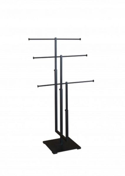 T-bar Adjustable Jewelry Stand Necklace Bracelet Tree Display 3 Tier Matte Blk