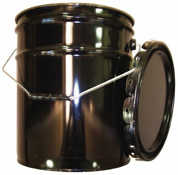 Made in USA 5 Gallon Capacity Crimped Lid Drum Pail Steel UN 1H2X70.8S0...