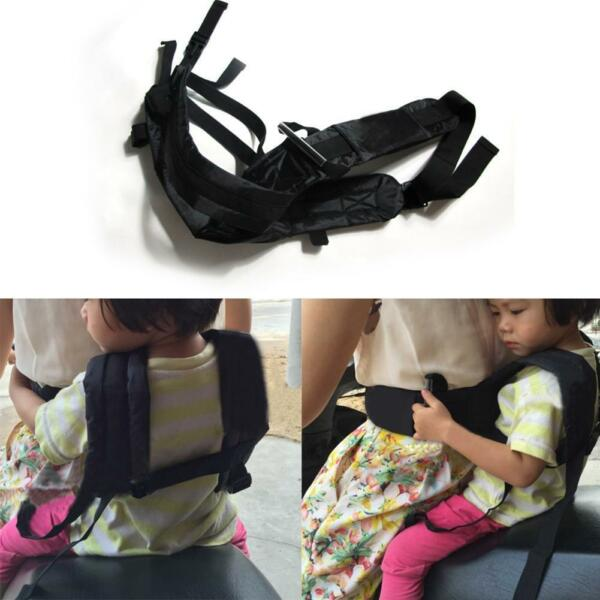 Motorcycle Safety Harness Kids Bike Strap Seat Belt Outdoor Security Buckle
