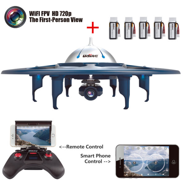UDI U845 RC Drone Quadcopter WiFi FPV 2.4G Remote Control UFO w/ 720P HD Camera