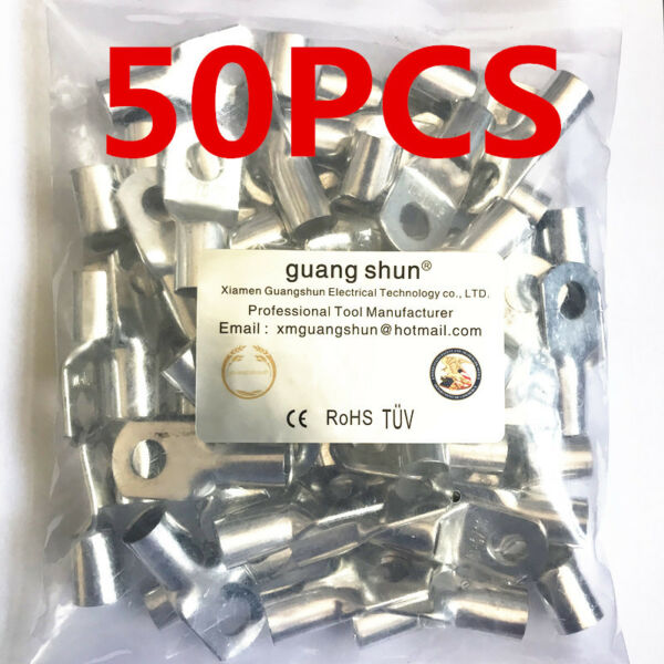 50PCS New Tinned Copper Cable Lugs Terminals AWG Battery Marine Cable Wire