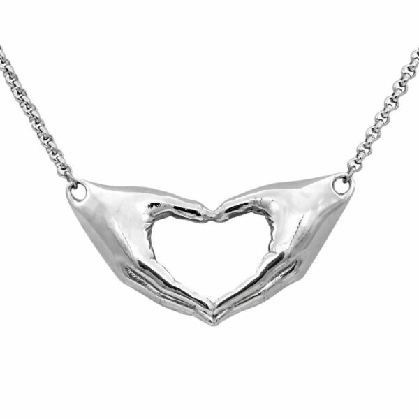 Hand Heat Necklace Friendship Pendant Stainless Steel Jewelry By Controse