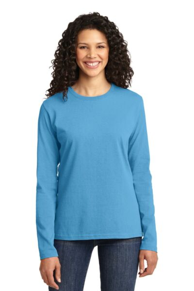 Port & Company Women's Long Sleeve Core Cotton T-shirt LPC54LS XS-4XL