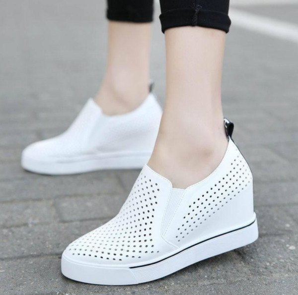 Women Breathable Wedge Heels Sneakers Summer F Sports Casual Shoes Zsell