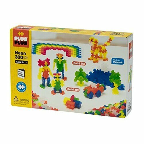 PLUS PLUS 300 Piece NEON COLOR Set, Puzzle Piece-Shaped Building Toy