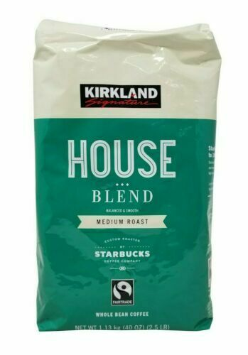 KIRKLAND HOUSE BLEND MEDIUM ROAST STARBUCKS COFFEE WHOLE BEAN CO
