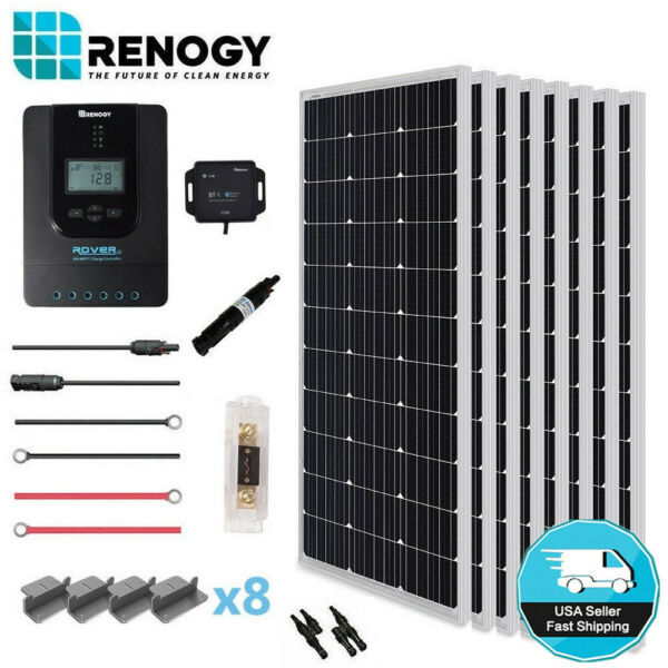 Renogy 800W Mono Solar Panel Premium Kit 24V Off Grid Power 40A MPPT Controller