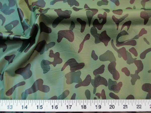 Disount Fabric Faux Leather Pleather Woodland Camouflage Upholstery Vinyl L20