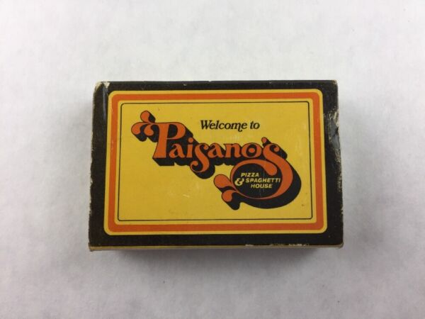 Vintage Paisano#x27;s Pizza amp; Spaghetti House Tualatin Oregon Slide Matchbook