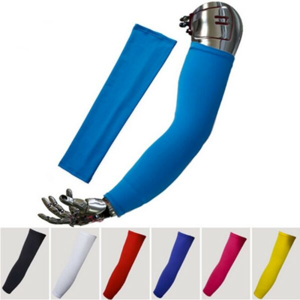 1Pair Compression Cooling Arm Sleeves Sports UV Sun Protection Outdoor Arm Cover