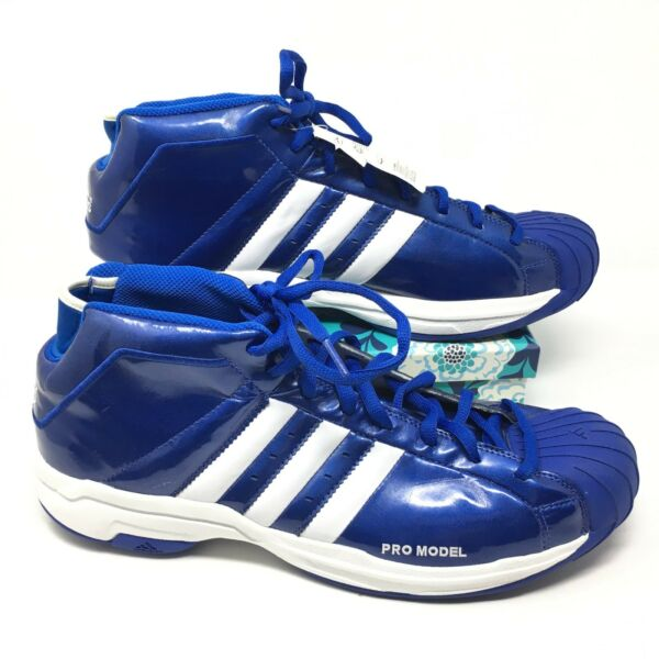 Men's NEW Adidas Pro Model 2G Size 16 Sneakers Shoes Basketball Blue White S4