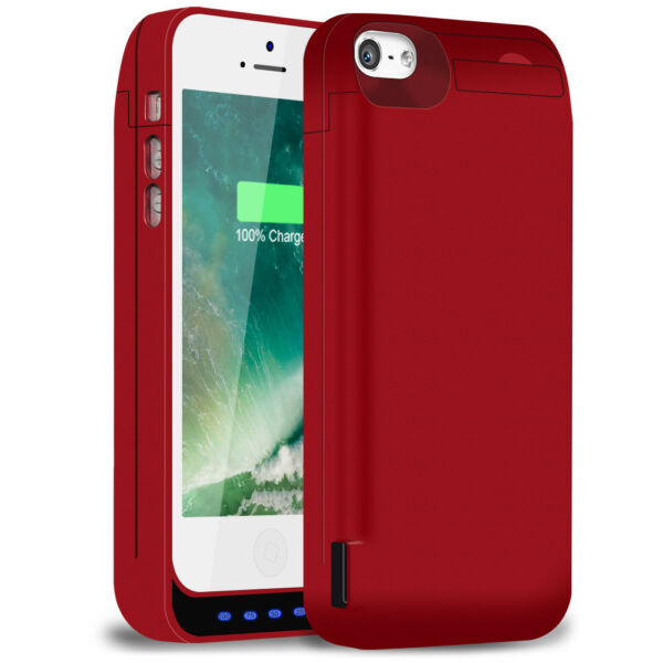 TQTHL 4500mAh Rechargeable External Power Battery Case For iPhone 5 , 5s Phone
