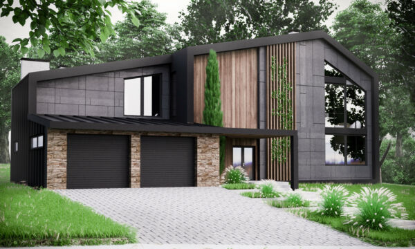 Modern House Plan Building Plans Blueprints & Material List 2018  306 m #2