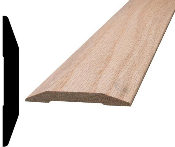 Alexandria Moulding 7/16 in. x 3-1/4 in. x 96 in. Oak Saddle Threshold Moulding