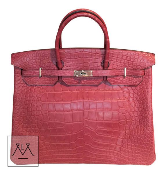 Hermes Birkin Bag 40cm Fuchsia Alligator Crocodile PHW - 100% Authentic